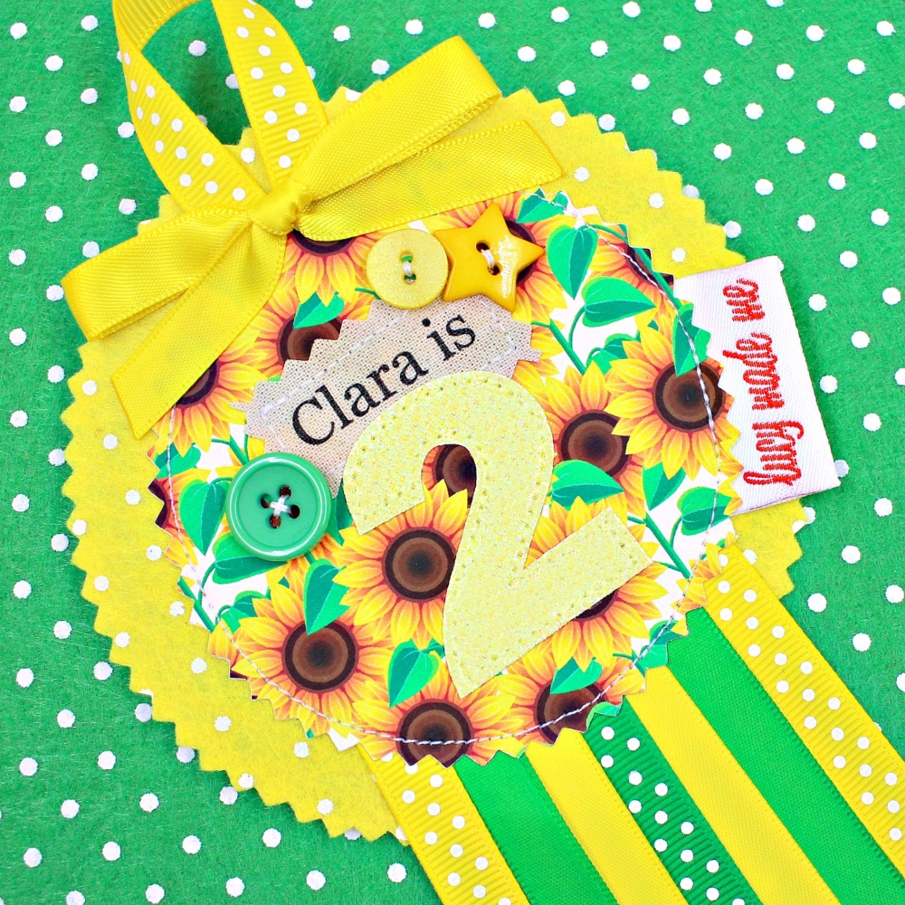 Floral Sunflower Badge