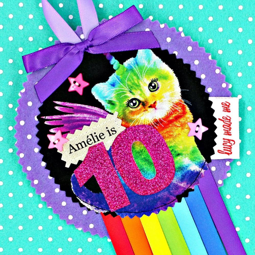 Caticorn Rainbow Badge