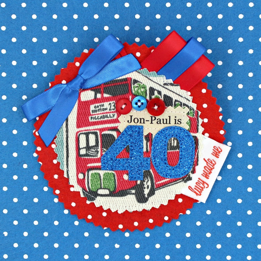 Red Bus Badge