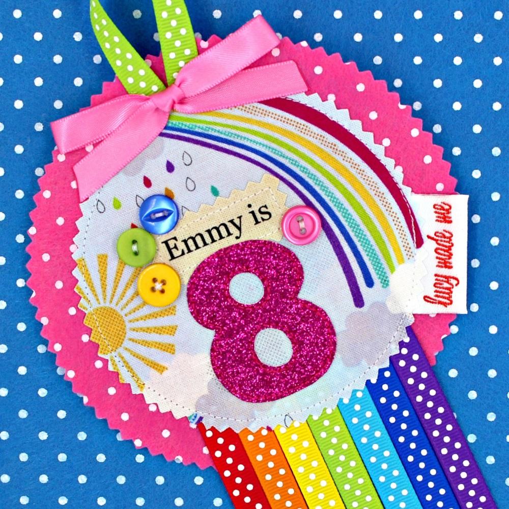Rainbow Sunshine Badge