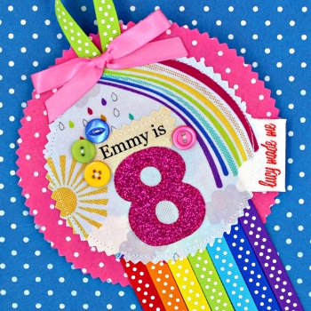 Rainbow Cloud Sunshine Badge