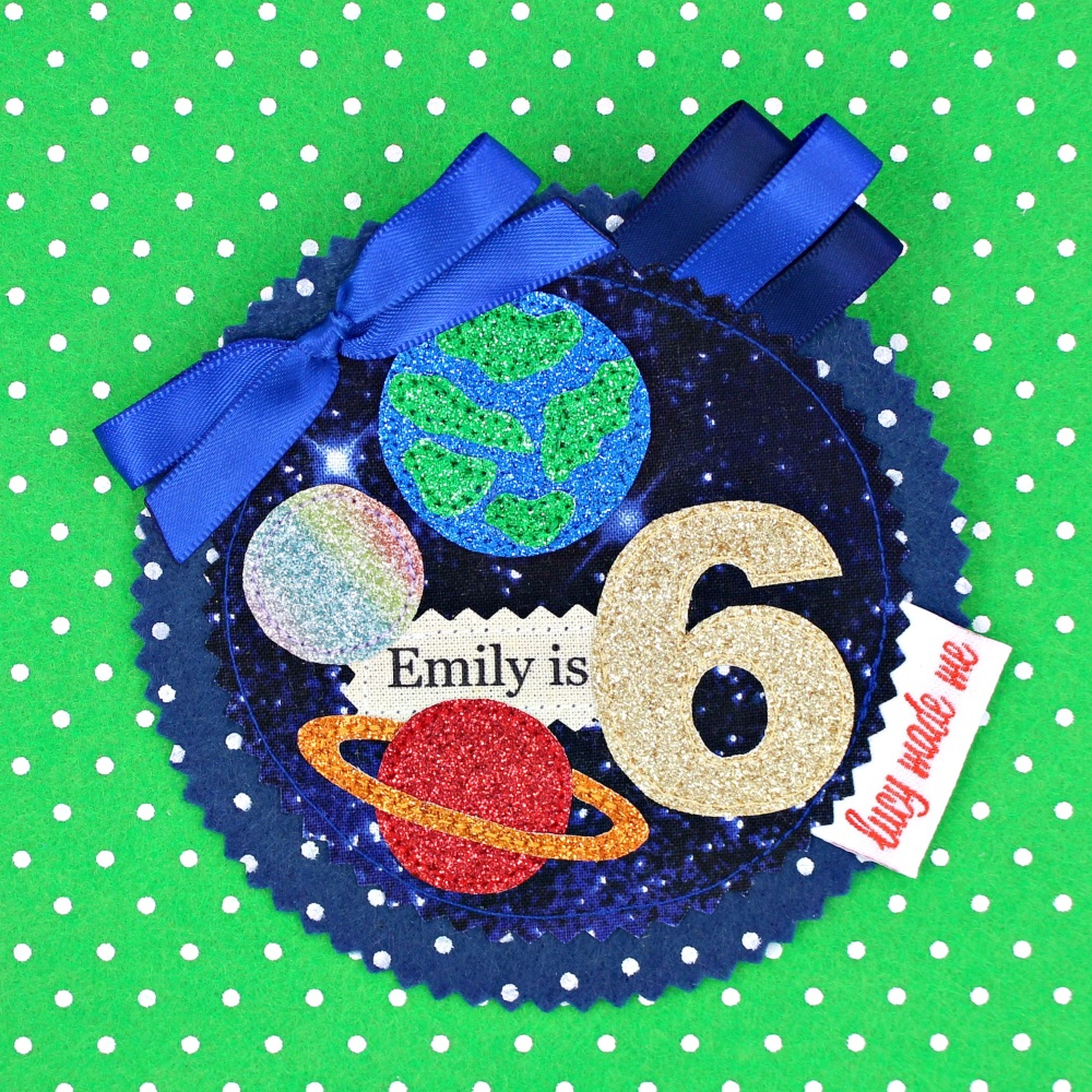 Space Planets Badge