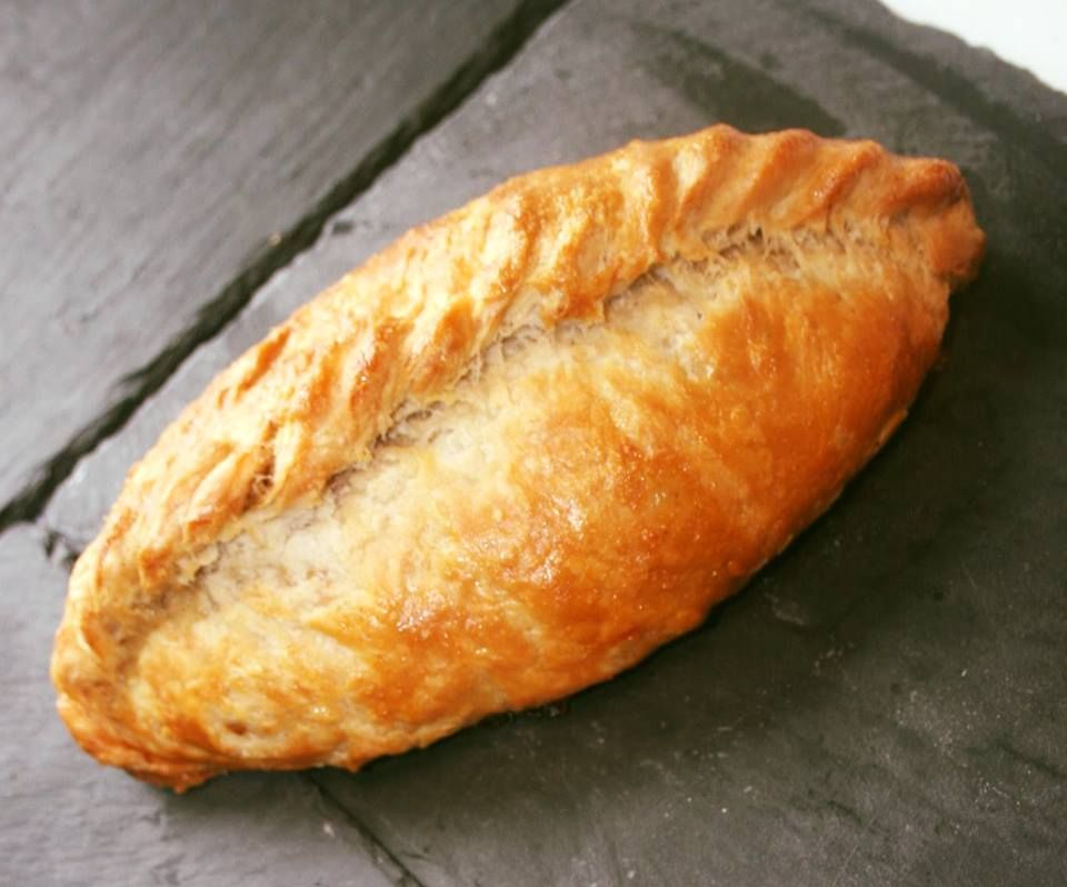 golden cooked cornish pasty