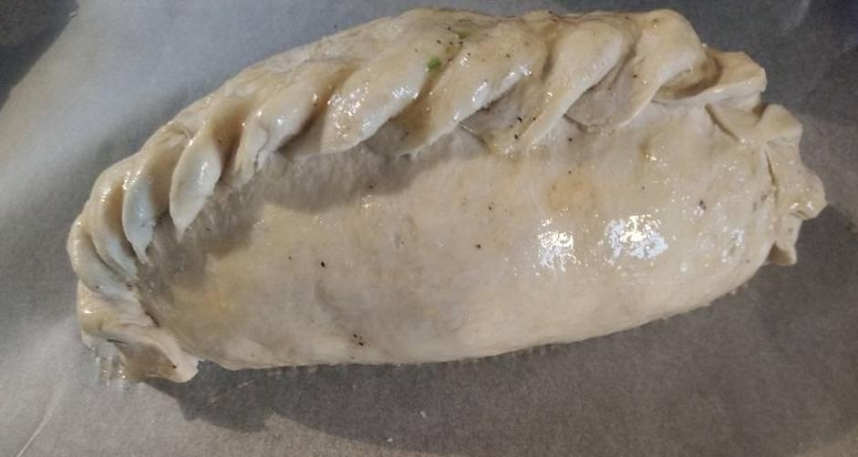 top crimped cornish pasty