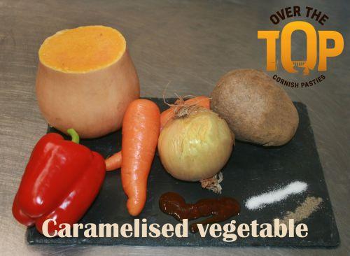 Vegan Caramelised  Vegatable  Pasty