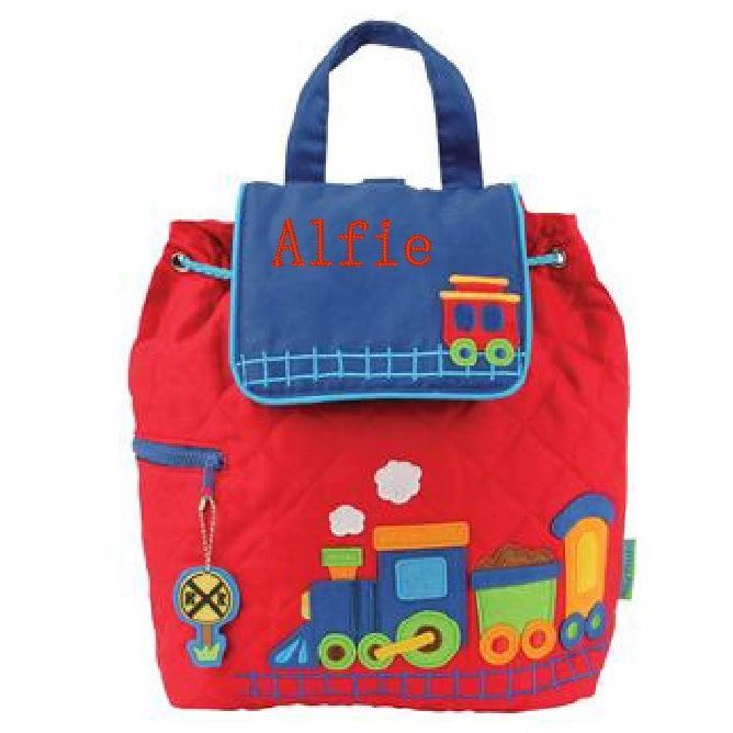 Childrens Quilted Train Backpack