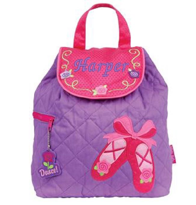 Children's Quilted Ballet Backpack