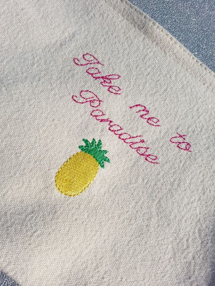 'Take me to Paradise' Pineapple accessory pouch