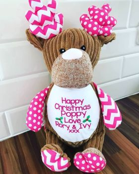 Pink Harlequin Reindeer