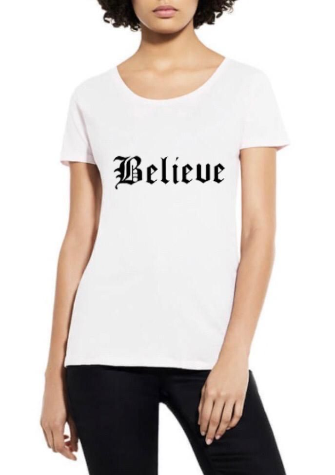 Believe Organic Scoop Neck Tee