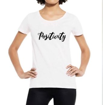 Positivity Organic Scoop Neck Tee