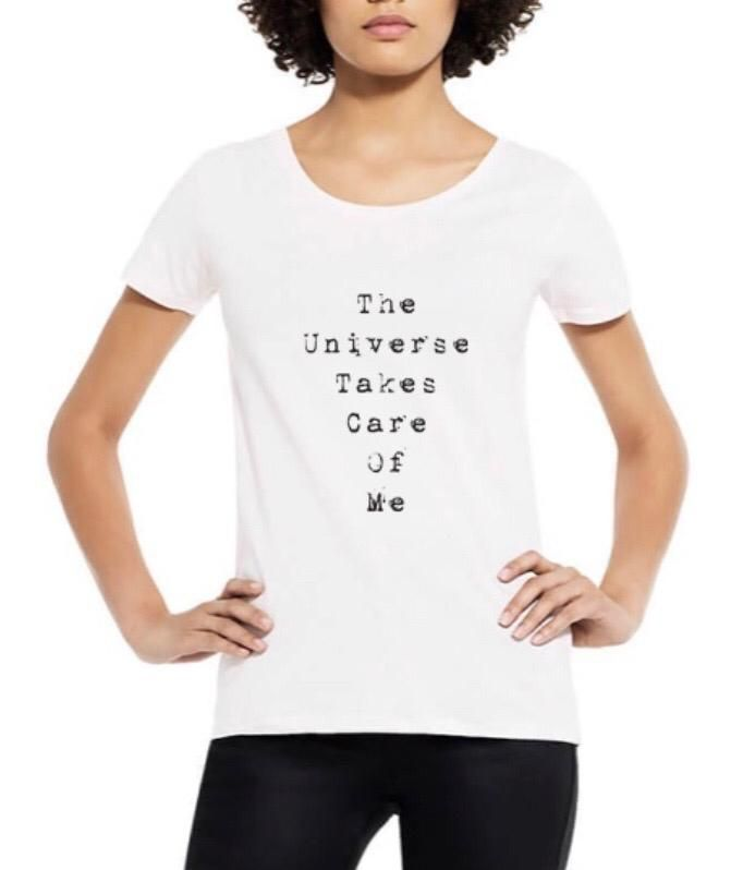 The Universe Takes Care Of Me Organic Scoop Neck Tee