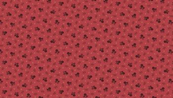 TRINKETS - DARK RED FLOWERS ON PINK 2/8146R