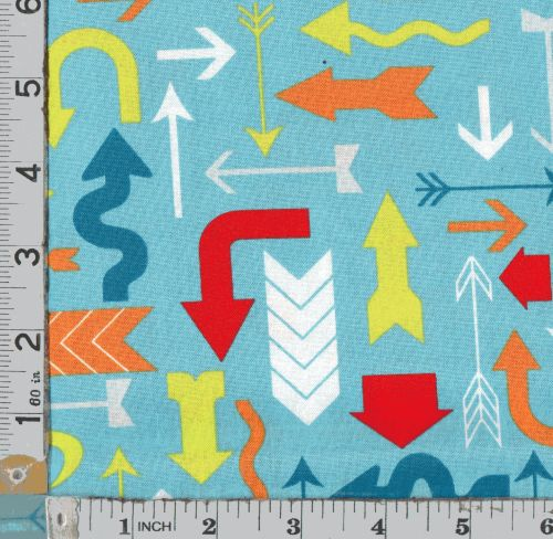 MODA - MIXED BAG FUNKY ARROWS ON TURQUOISE