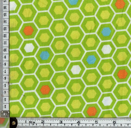 MODA - MIXED BAG HEXAGON SHAPES GREEN/ORANGE/TURQUOISE