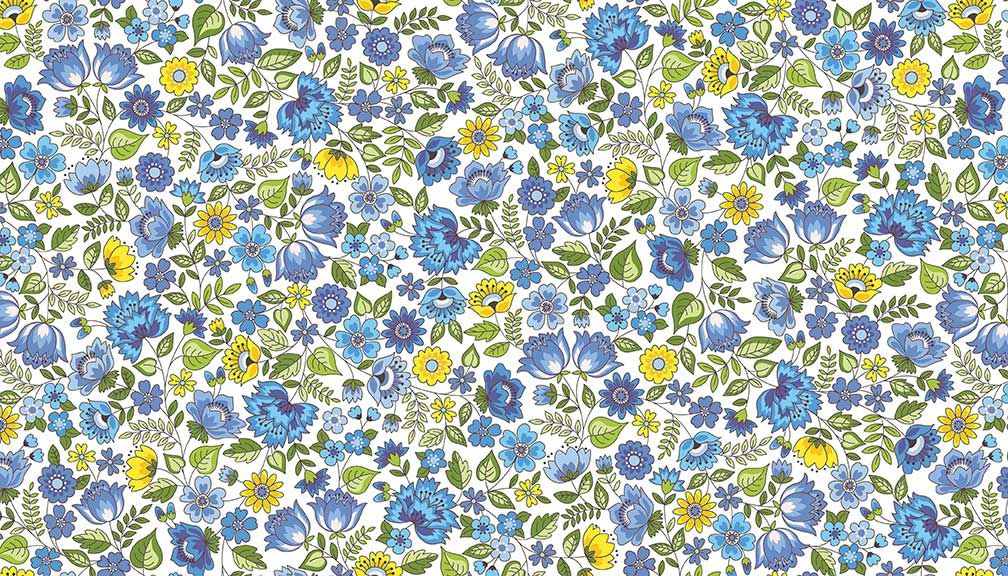 BLOOM - CHINTZ - BLUE 2031-Q