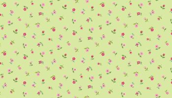 BLOOM - FLORAL SCATTER -  GREEN 2032-G