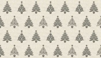 GREY CHRISTMAS TREES ON IVORY