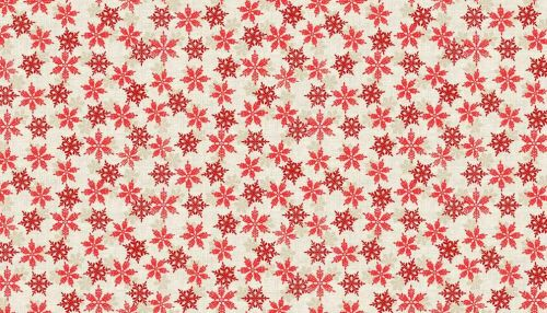 RED SNOWFLAKE ON CREAM