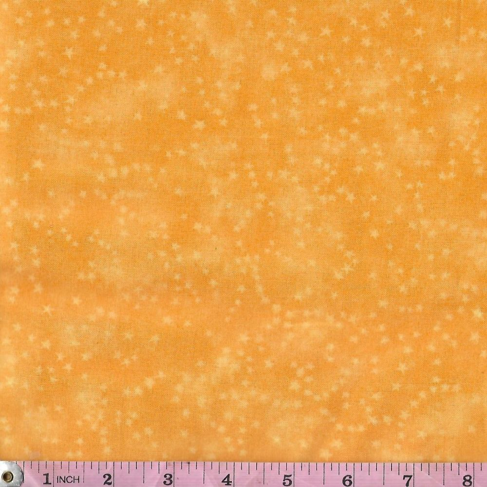 ZEN PRINTS STARS PALE YELLOW ON YELLOW PRICE PER HALF METRE
