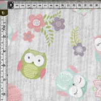 Hootsie Owl  cartoon owls on grey