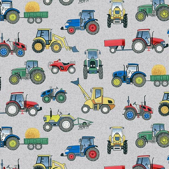 VILLAGE LIFE TRACTORS ON GREEN 2296/S
