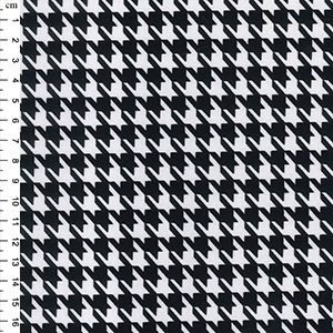 PRINTED PONTE ROMA Black and ivory dog tooth check