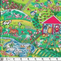 FARMYARD - MULTICOLOURED FARMYARD SCENE