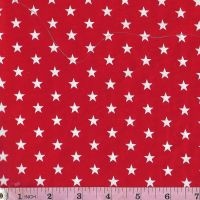 White stars on red  Extra wide 57""