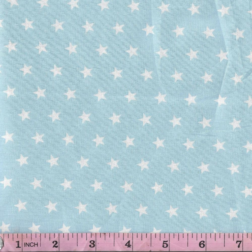 White stars on pale blue Extra wide 57""