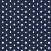 White stars on navy blue Extra wide 57""