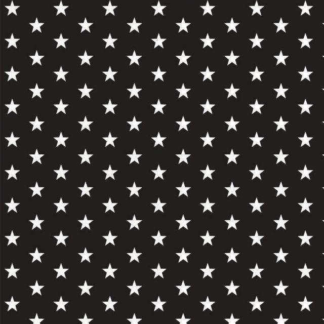 White stars on black Extra wide 57""