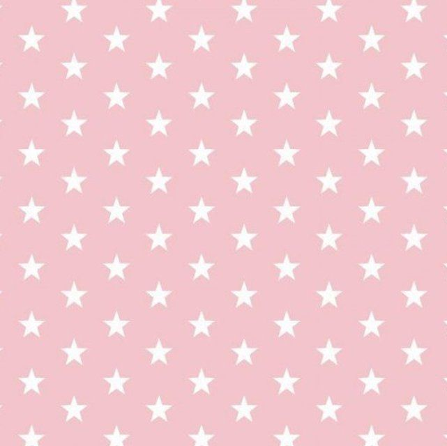 White stars on pale pink  Extra wide 57