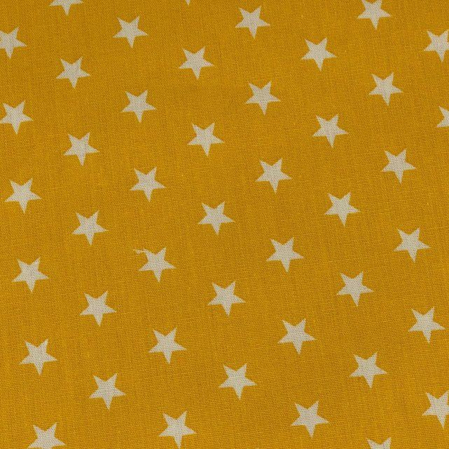 White stars on yellow  Extra wide 57""