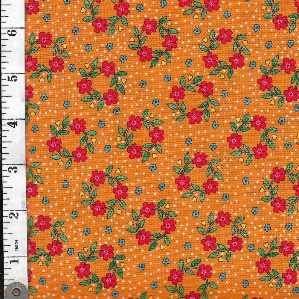B 31 QUILTING BEE ORANGE - FABRIQUILT
