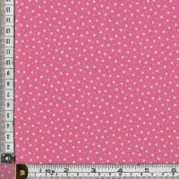 100% premium  cotton poplin  mini white stars on rose pink. Fabric suitable for dressmaking, patchwork and crafts.