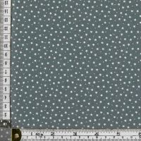 100% premium  cotton poplin  mini white stars on grey. Fabric suitable for dressmaking, patchwork and crafts.