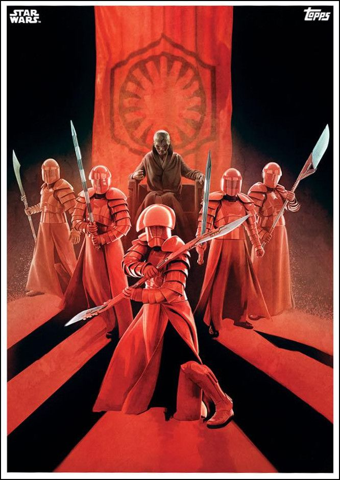Star Wars The Last Jedi Poster Signed By 8 Praetorian Guards Pre Order 04