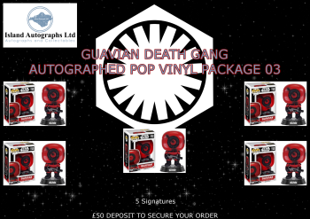 Star Wars The Force Awakens autographed Pop Vinyl Package (01)