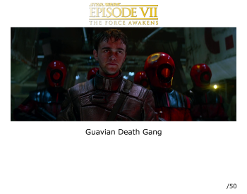 Guavian Death Gang Autographed picture Star Wars The Force Awakens 11x14 (01)