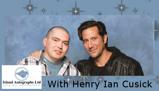 Pete with Henry Ian Cusick