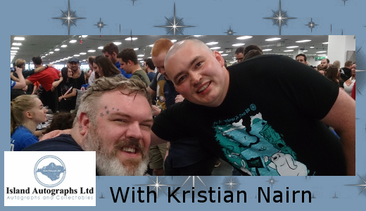 Pete with Kristian Nairn (2016)