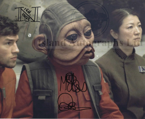 Mike Quinn as Nien Nunb Star Wars The Last Jedi Autographed print pre-order