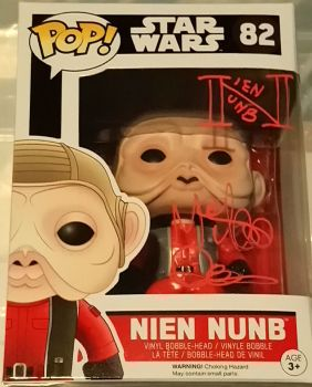 Mike Quinn Nien Nunb Star Wars Autographed Pop Vinyl (01)