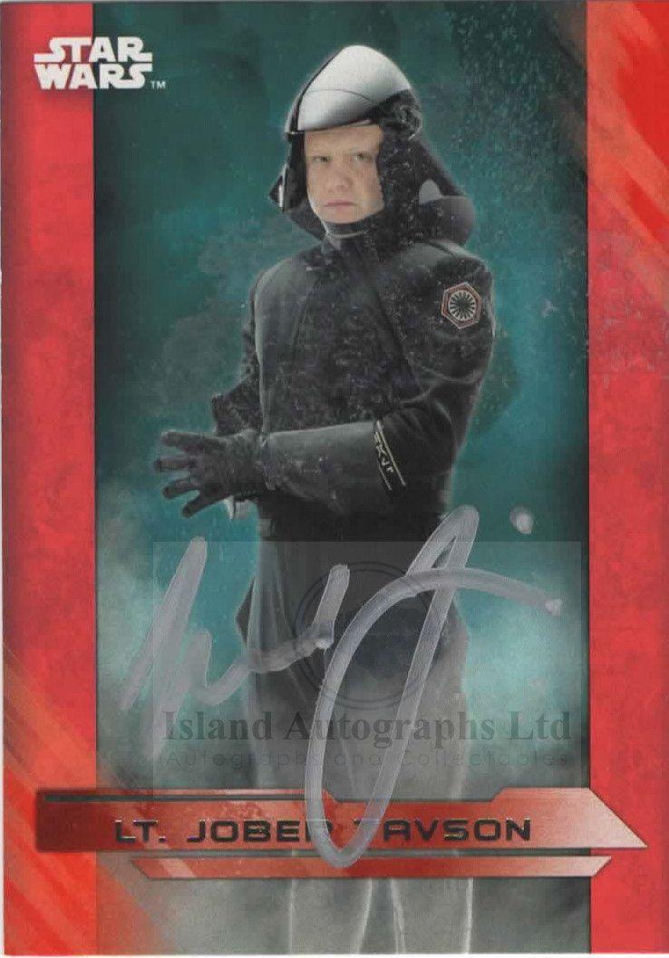 Michael Jibson as Lt. Jober Tavson in Star Wars The Last Jedi Autographed t