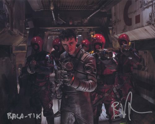 Brian Vernel as Bala Tik in Star Wars The Force Awakens Autographed 10x08 (