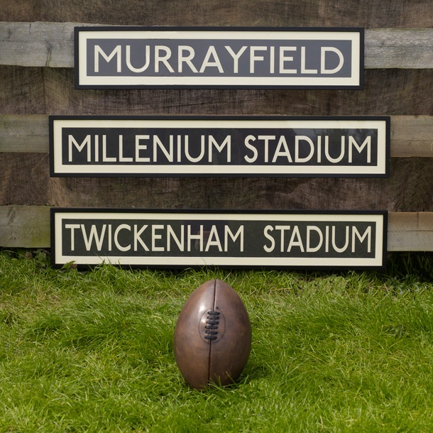 Rugby Destination Bus signs