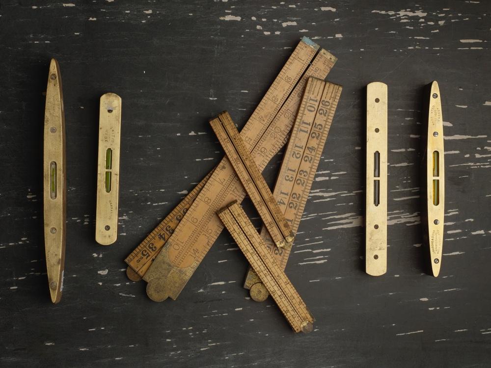 Wooden and Brass Spirit Levels