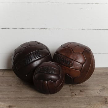 Hand Stitched and Dyed Leather Football