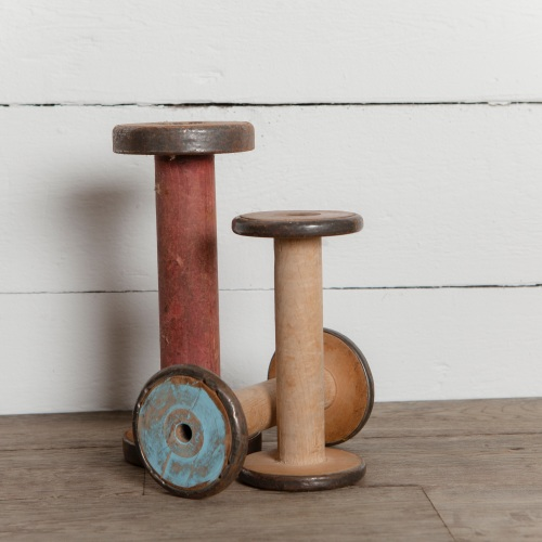 Salvaged Wooden Bobbins